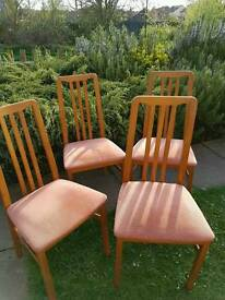 4 retro chairs for sale