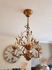 Laura Ashley Antique 3 Bulb Chandelier