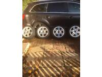 """Original AMG 17"""" Mercedes alloys with tyres"""