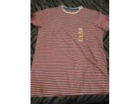 RED AND WHITE STRIPED T-SHIRT SIZE XL BRAND NEW GREAT FOR WHERES WALLY FANCY DRESS