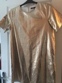 Gold Boohoo Dress- Size 14