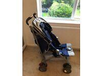 Maclaren Techno XT pushchair/stroller in blue/silver