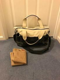 Storksak Kate Patent Stone And Black Changing Bag OFFERS WELCOME
