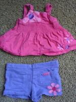 Pink & Purple Outfit - Size 12-18 Months