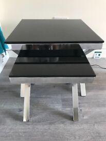 Set of black side tables
