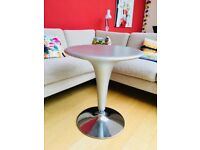 Mordern stylish Matt silver occasional or drinks table