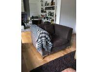 Contemporary Modern Brown Armchair