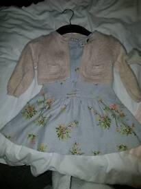 2 x party dresses 9 - 12 months