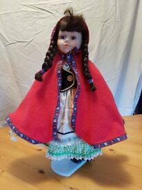 Porcelain Little Red Riding Hood Doll