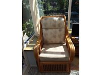 Conservatory chairs in excellent condition x 4 all the same x new cushions 18 months ago £125 Ono