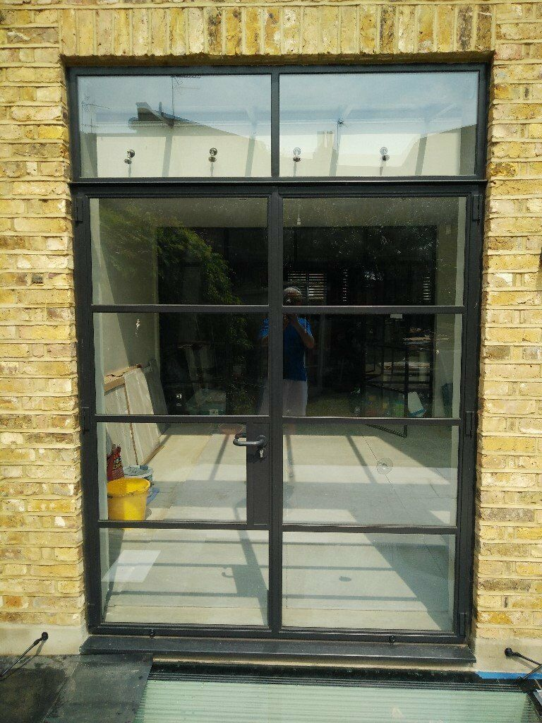 crittall style external french doors black steel. Black Bedroom Furniture Sets. Home Design Ideas
