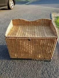 Wicker Style straw storage container