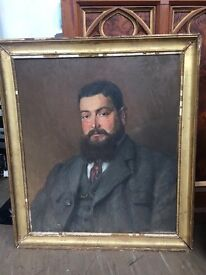 Gifted oil painting 1919 in frame
