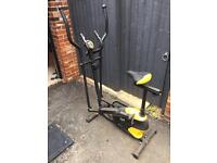 2 in 1 Cross Trainer & Exercise Bike