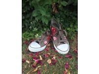 Floral sneakers (DEPOP)
