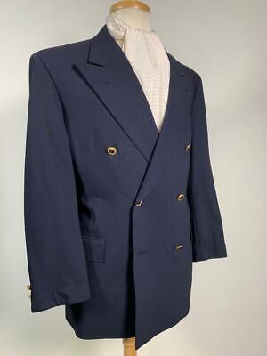 HICKEY FREEMAN usa hand tailored BLUE BLAZER 42 us 52 eu GILT BUTTONS