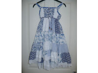 Stunning long dress from Next for Girl 7-8 years. 100% cotton. Very good condition.