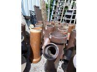 Various Brown Salt Glazed Drainage Pipes Garden Planters £15 Each