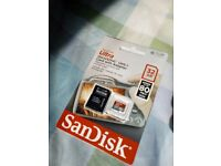 32GB sandisc memory card & adapter