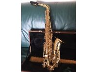 Alto Saxophone with case and accessories