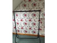 """Heavy duty clothes rail 49"""" long old but good"""