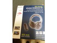 Brand new next base sdv series wireless headphones kit