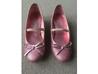 Monsoon Girls Pink Glitter Sparkly Shoes Size 11 Hardly used