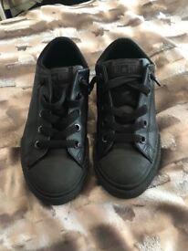 Boys black converse shoes