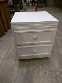 White laminate bedside cabinet