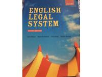 English Legal System textbook