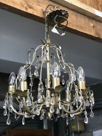 Chandelier - Brushed gold effect