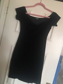 Black velvet dress with tags size 10