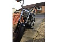 Harley Davidson fatbob with loads of genuine extras .
