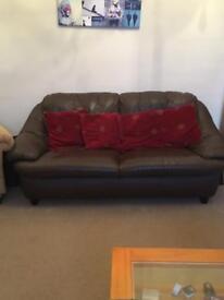 2/3 Seater Leather Sofa