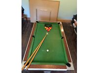 6ft Slate Pool Table (With boards to convert it into a dining table)