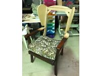 FREE Stripped Wingback Chair for Upholstery Project