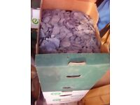 slate chippings in boxes