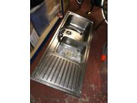 Stainless Steel Sink and Three Quarters with tap attached