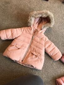 Zara girls coat size 3-6 months