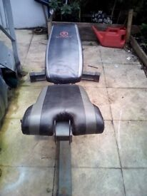 """weight bench and dumbbell""""s 2 x 11 kg"""