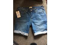 Men's Jack & Jones denim shorts.