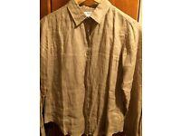 Uniqlo light brown linen shirt