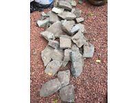 Granite garden stones.