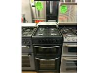 BELLING 5OCM GAS DOUBLE OVEN COOKER IN BLACK