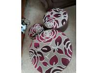 FOOTSTOOLS THAT SIT INSIDE EACH OTHER IDEAL FOR EXTRA SEATING FOR FAMILY EVENTS HARDLY USED