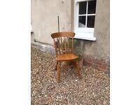 Four Wooden Kitchen Chairs
