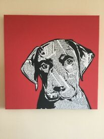 Dog canvas picture (Art) - BHS