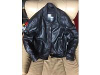 Richa black leather motorcycle jacket