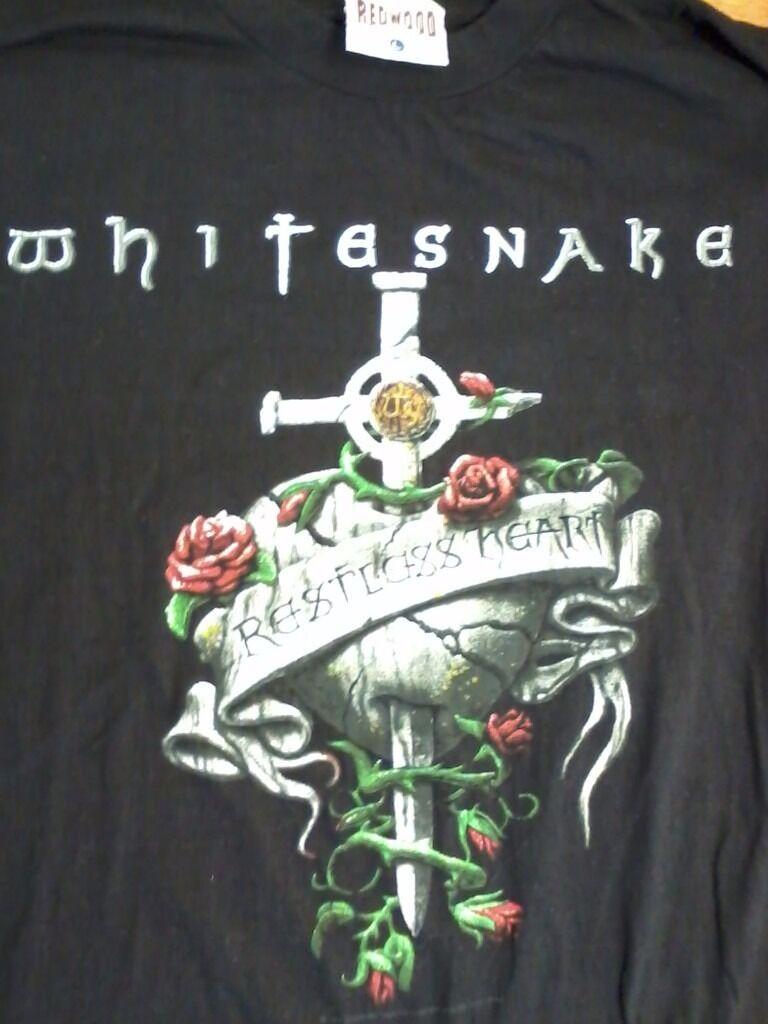 T shirt whitesnake - Whitesnake Restless Heart 1997 World Tour T Shirt