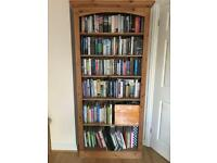Large solid pine bookcase with adjustable shelves